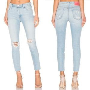 Mother Miranda High Rise Easy Does It Skinny Jeans